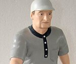 Photo of Honus Wagner sports action figure from Hartland LLC