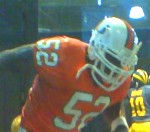 Photo of the Ray Lewis College Sports Picks sports action figure from McFarlane