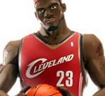 Photo of the LeBron James II all star vinyl action figure from Upper Deck